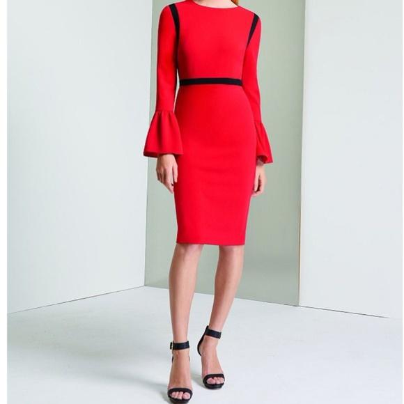 82c8847f85d Calvin Klein Bell Sleeve Shift Dress. M 5a404077caab4495db019cdd